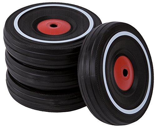 BIG - Bobby Car Whisper Wheels - Flüsterräder für Rutscher Autos, Reifen-Set mit Befestigungsclips und Montageanleitung, für Kinder ab 1 Jahr