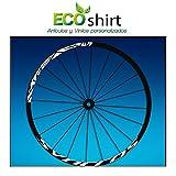 Ecoshirt Q7-S5MO-LC9Y Pegatinas Stickers Llanta Rim DT Swiss Syncross Xr25 MTB Downhill, Blanco 29'