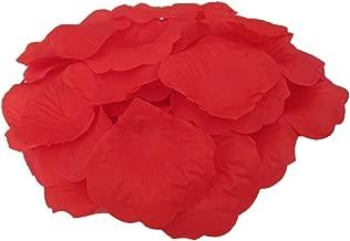 JUYO VONSAN Artificial Rose Petals Wedding Flowers Favors 500PCS (Red)