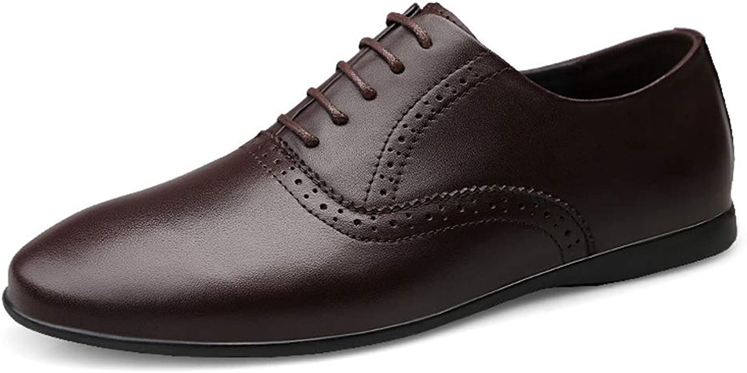 TYX-SS Fashion men's shoes leather business suit dad shoes work shoes