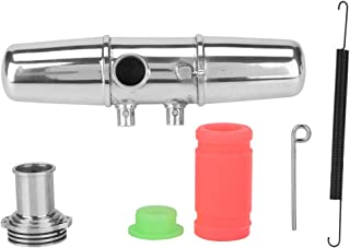 fosa 18001P Dual Exhaust Joint Tubing, Aluminium Alloy Exhaust Joint Pipe for HPI Savage 4.6/5.9 1/8 Nitro Car RC Model Pa...