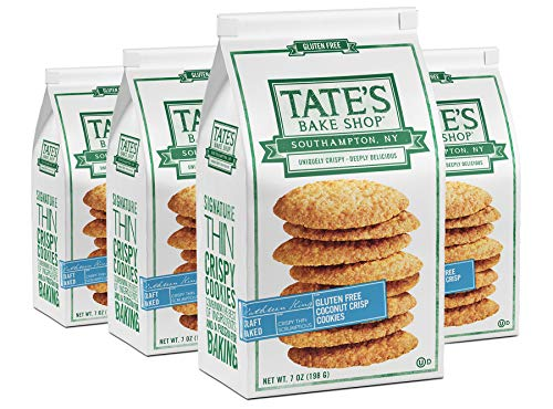 Tate's Bake Shop Thin & Crispy Cookies, Gluten Free Coconut Crisp, 7 Oz, 4Count
