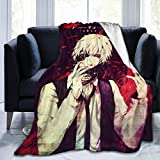 Tokyo-Ghoul Super Ultra-Soft Fleece Blanket 3D Printing Air Conditioning Flannel Bed Throw for Living Room 50'X40'