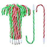 Coopay 48 Pieces Candy Cane Pens Christmas Pens with Black Ink for Christmas Holiday New Years Home Decor Party Gift, 7 Inch