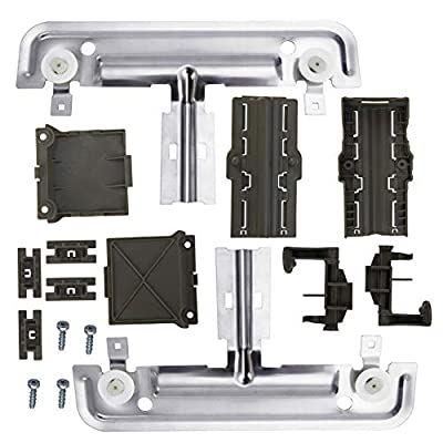 W10712395 Dishwasher Upper Rack Adjuster Metal Kit,Rack roller diameter 1.25in, Compatible with kenmore whirlpool kitchen aid,Dishwasher Parts Replaces for W10250159 W10350375 AP5957560 W10712395VP