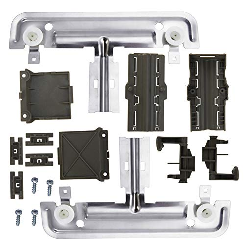 W10712395 Dishwasher Upper Rack Adjuster Metal Kit,Rack roller diameter 1.25in, Compatible with kenmore whirlpool kitchen aid,Dishwasher Parts AP5957560 W10350375 WDT780SAEM1 WDT750SAHZ0 WDTA50SAHZ0