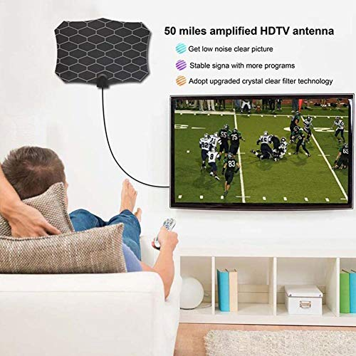 HDTV-antenne, compleet product, 980 Miles Smart signaalversterker, ondersteunt de nationale norm DTMB, ATSC Europa, DVB-T Azië/Europa, DMB-T Korea, ISDB-T Brazilië, ATSC, HdtvDVB-T2