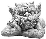 gartendekoparadies.de Massive Steinfigur Gargoyle Büste IV Torwächter Gartendeko aus Steinguss frostfest