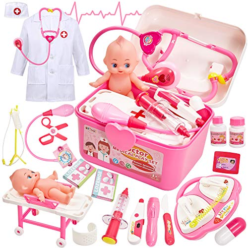 Buyger Maletin Medicos Juguete Botiquin Doctora Disfraz Kit