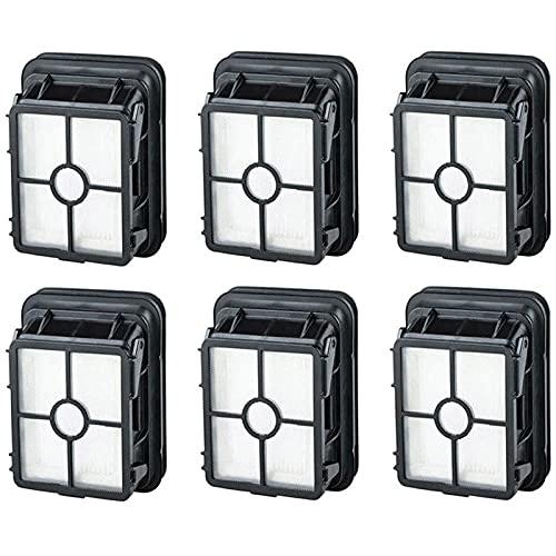 Piezas de repuesto para aspiradoras Bissell CrossWave 6 paquetes de filtros HEPA para aspiradoras Bissell CrossWave (color: negro)