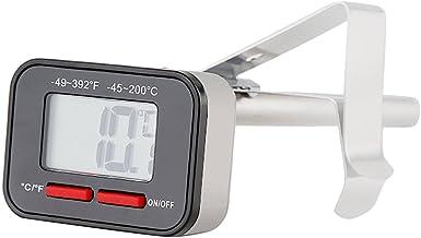 Termómetro De Espuma De Leche Digital Con Sonda De Clip De 130 Mm, Fabricación De Leche De Café Para Alimentos