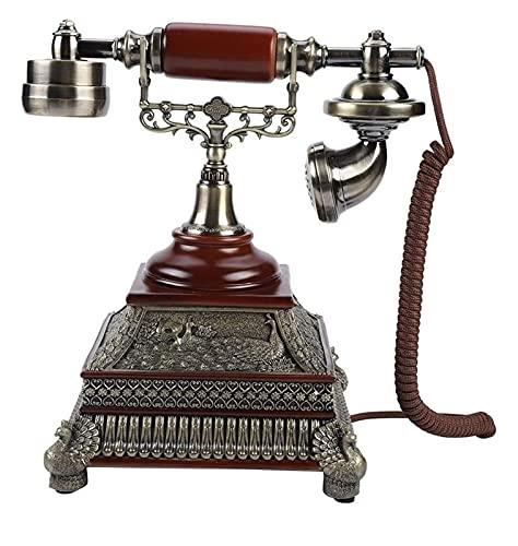ZHANGKAIXUAN Rétro Vintage Téléphone Antique Cordled The Landline Bureau Téléphone avec écran Dial de l'écran Prise en Charge de téléphone Téléphone Fixe Téléphone Rétro L'Ancienne