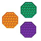 Magic Select - Juguete sensorial para niños y adultos (octogono verde, naranja y morado claro)