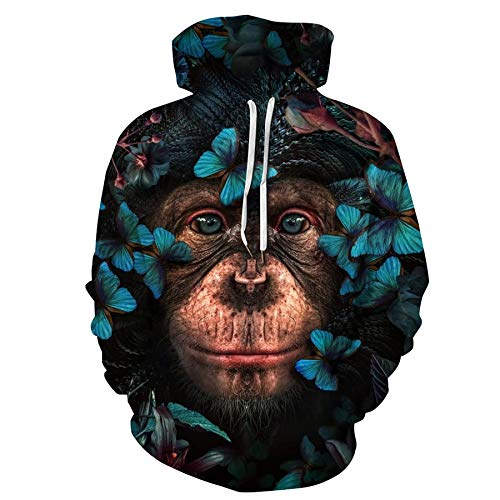 Zaima Animal Lion 3D Printed Men Hoodie Streetwear Pullover OtoñO Sudadera Unisex Casual Chaqueta CháNdal Invierno Manga Larga SuéTer con CordóN