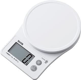 タニタ はかり スケール 料理 2kg 1g ホワイト KJ-216 WH