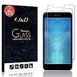 J&D Compatible para 2-Packs Compatible para LG K30/LG K10 2018 Protector de Pantalla, [Cristal Templado] [NO Cobertura Completa] Claro Vidrio Balístico Protector de Pantalla para LG K30, LG K10 2018