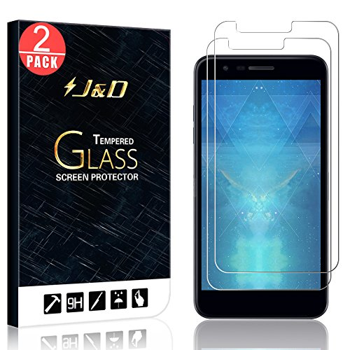 J&D Compatible para 2-Packs Compatible para LG K30/LG K10 2018 Protector de...