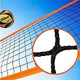 Redes Deportivas On Line Red De Voley Playa o Voleibol De Polipropileno Sin Nudos con Cinta Perimetral Naranja. Medidas Oficiales. Calidad Profesional