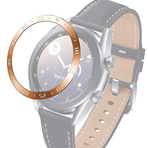 JIANGHONGYAN Reloj Inteligente Compatible con Estuche Protector para Samsung Galaxy Watch 3 Anillo de Bisel de Acero para Reloj Inteligente de 41 mm, versión A