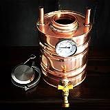 2 Gallon (7.5 Liter) Copper Moonshine Thumper/Doubler Upgrade for 6 Gallon Stills