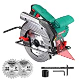 Circular Saw, 1500W HYCHIKA Electric Saw with Speed 4700RPM, Laser...
