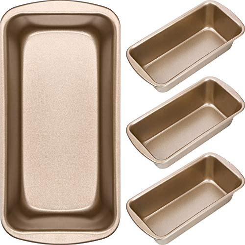 Non-Stick Loaf Pan Set, 4 Pieces Toast Baking Mold, Rectangle Baking Tray for Oven Baking (9.29 x 3.7 Inches)