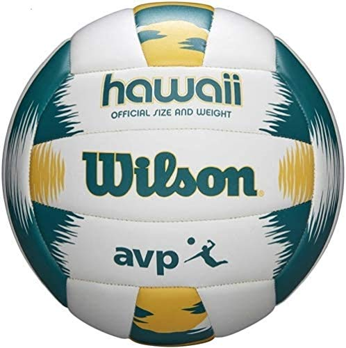 Wilson Unisex-Erwachsene AVP RECREATIONAL VB Volleyball, GREEN/YELLOW, Official, WTH80119XB