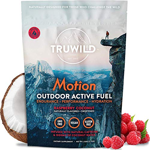 TRUWILD Motion - All Natural Pre Workout Powder Drink Mix for Men and Women - Plant Based Vegan Keto Preworkout Energy Drink Supplement - Amino Acids - Creatine Free - No Crash or Jitters