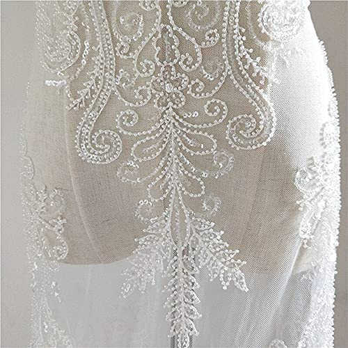 SELCRAFT high-Grade mesh Embroidery Sequins We 100% quality warranty! excellence lace Fabric Cloth