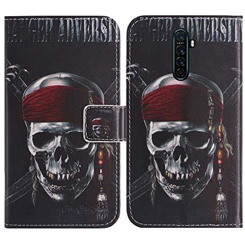 TienJueShi Totenkopf Flip Stand Brief Leder Tasche Schütz Hülle Handy Case Für XGODY Note 8 6.3 inch Abdeckung Fall Wallet Cover Etüi