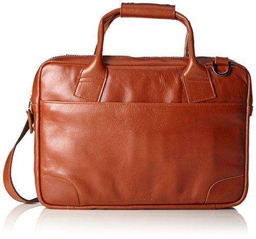 Royal Republiq Nano Big Zip Leren laptoptas, uniseks, voor volwassenen, bruin (Cognac), 12x29x41 cm