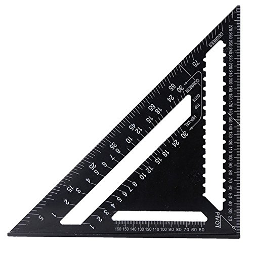 30,5 cm metrisches Dreieck-Winkelmesser aus Aluminiumlegierung für Ingenieur, Zimmermannschaft, Rahmen, Dachdecken, Bauen und Umbau Projekte