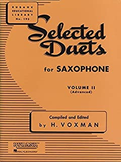Selected Duets for Saxophone: Volume 2 - Advanced (Rubank Educational Library)