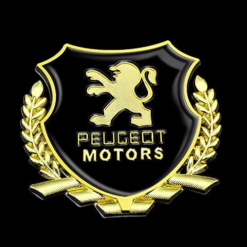 Emblema De La Parrilla Delantera Del Coche 3d, Etiqueta Engomada Del Emblema De La Insignia Del Maletero Trasero, Accesorios De Estilo Del Coche, Para Peugeot 206 207 208 306 307 308 407 408 508 2008
