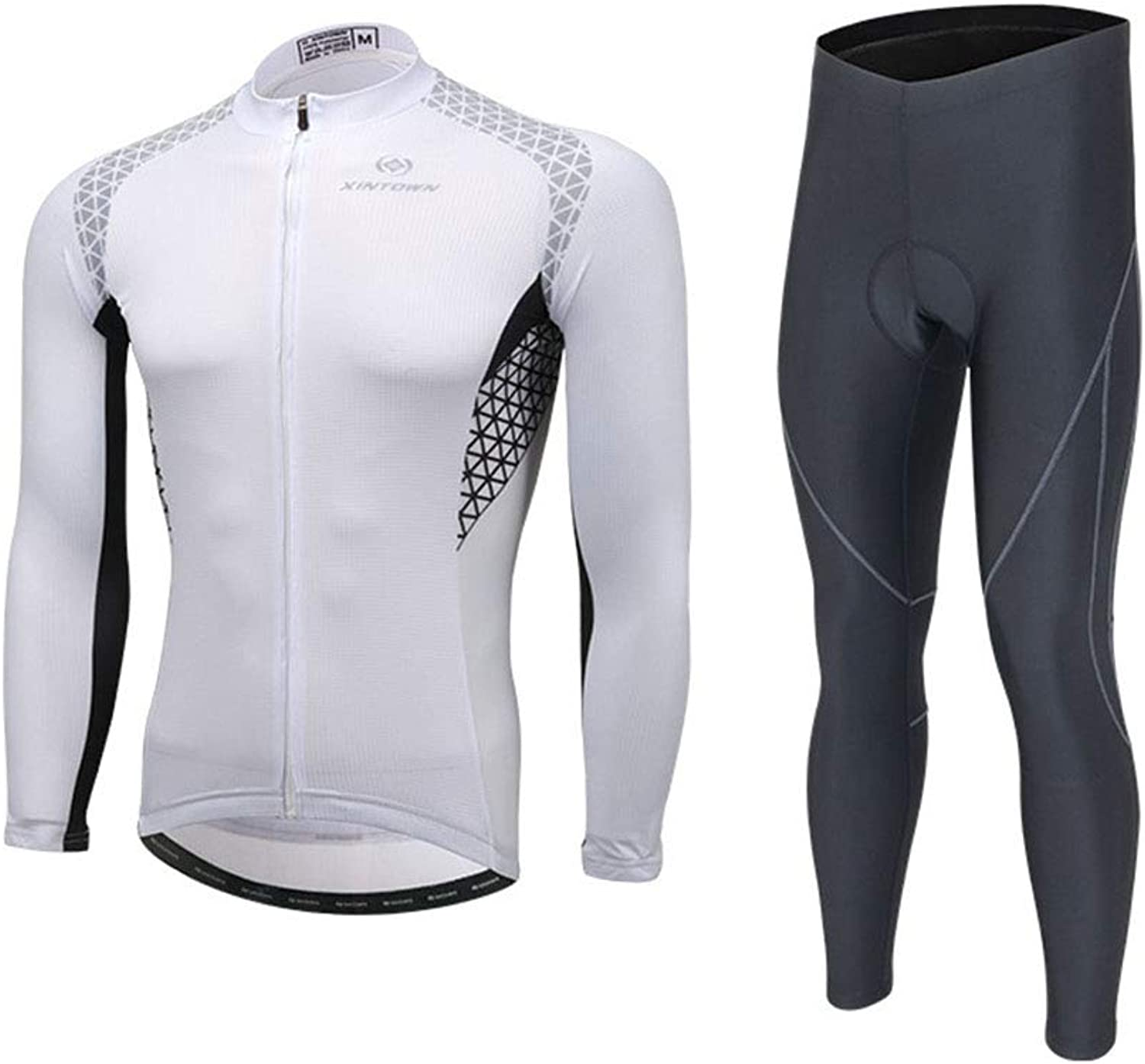 Zmcong Cycling sling long sleeve suit bicycle clothing, moisture wicking and quick-drying pants,Mens Cycling Clothing Set