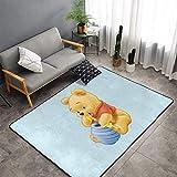 keben Winnie the Pooh Super Soft Carpet Cozy Art Decoration Polyester Carpet for Living Room Bedroom Kitchen Bedroom for Children Area Rug 60 X 39 In