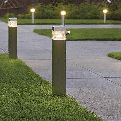 FactorLED vloerlamp, 8 W, chip, SAMSUNG, buitenlamp, IP44, 60 cm, vierkante palen, verlichting voor tuin, veranda, paden, zwembad, natuurlijk licht 4000 K [energie-efficiëntieklasse A+]