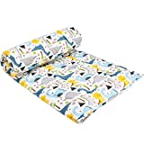 UOMNY Kids Toddler Blanket - Soft Cot Nursery Comforter Quilts for Boys and Girls 33'x42' Cotton 1 Pack kids'crib Blankets Nursery Blanket Weight Dinosaur Pattern