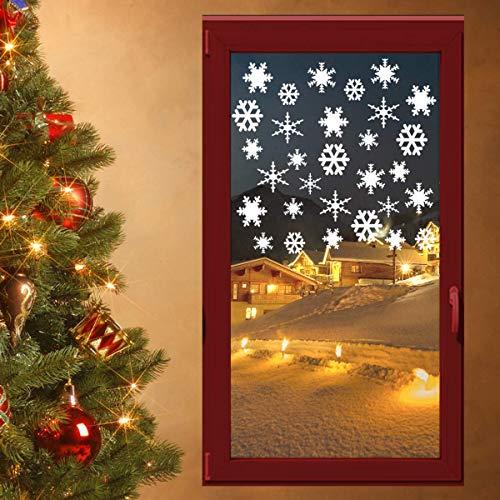 Speed-Biker 30 ijskristallen raamdecoratie Kerstmis muursticker raamsticker raamsticker