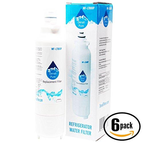 6-Pack de repuesto LG lsxs26386s nevera filtro de agua–Compatible con LG lt800p, adq73613401cartucho de filtro de agua para frigorífico