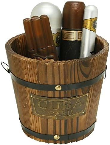Cuba Gold by Cuba for Men - Gift Set - 3.4oz EDT Spray, 6.7oz deodorant Spray, 3.3oz after shave, 1.17oz EDT Spray wi...
