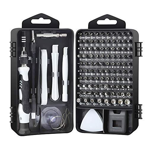 YINGBO 117 in 1 Präzisions-Schraubendreher-Set, Mini-Schraubendreher-Reparatur-Tool-Kit für TV-PC-Laptop-Handy-Kameras Uhr Gläser, kleine Schraubendreher-Kit mit Box