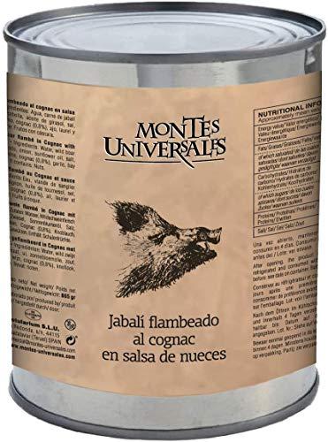 Montes Universales Wildschwein flambé in Cognac mit Walnuss sauce 865 g