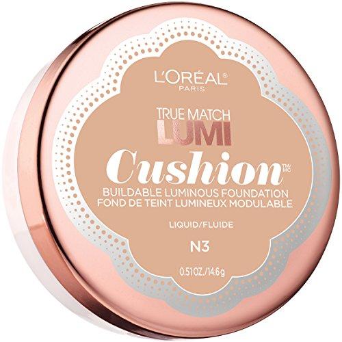 L'Oréal Paris True Match Lumi Cushion Foundation, N3 Natural Buff, 0.51 oz.