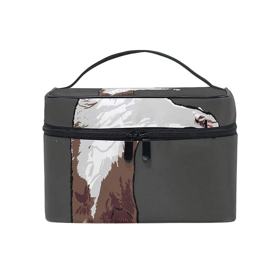ジャンク論文流行メイクボックス ラグドール猫可愛い柄 化粧ポーチ 化粧品 化粧道具 小物入れ メイクブラシバッグ 大容量 旅行用 収納ケース