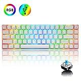 60% True Mechanical Gaming Keyboard Type C Wired 68 Keys LED Backlit USB Waterproof Keyboard 18 Chroma RGB...