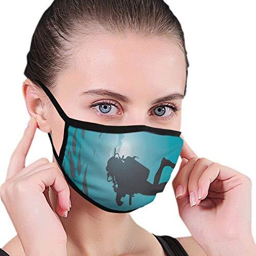 2186 Mundmasken Verstellbarer Earloop-Gesichtsmasken-Taucher, umgeben von Fischpfosten Tauchen Schnorcheln Aqualung Wassersport