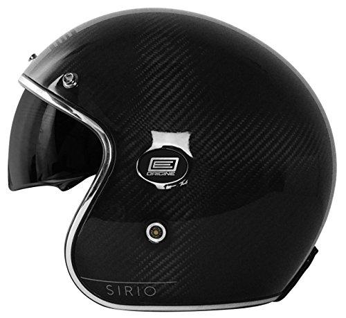 Origine Motorrad-Helm Sirio aus Carbonfaser, Grau, S