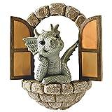 Lrxinki DragóN De DecoracióN De JardíN, Escultura Creativa del áRbol De Resina del DragóN para La Puerta Al Aire Libre De La Pared del áRbol, Decoracion para Hogar, para Exteriores