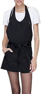 (Price/each) Opromo Adjustable Bib Apron with One Front Pocket, V-Neck Tuxedo
